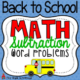 Back to School Math Subtraction Word Problems