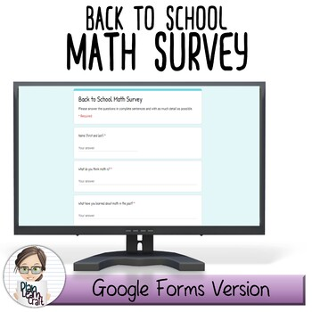 Back to School Math Survey: Middle School - BONUS Mid & End of Year Check-In