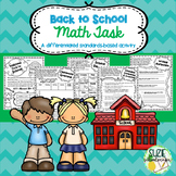 Back to School Math Task: Place Value, Adding, Subtracting, & Graphing