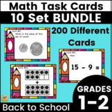Back to School Task Card BUNDLE!  Money, time, ten frames, adding & MORE!