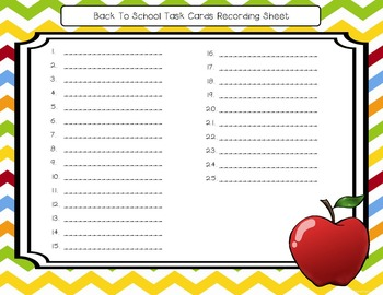 Back to School Math Task Cards: 3rd Grade CCSS Review