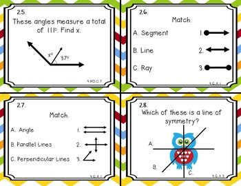 Back to School Math Task Cards: 4th Grade CCSS Review