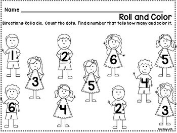 Back to School Kindergarten Math Center Games and Activities