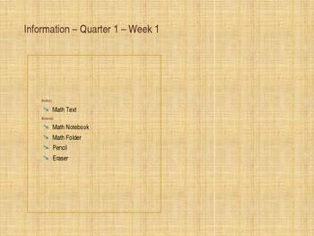 Back to School - Math - Week 1