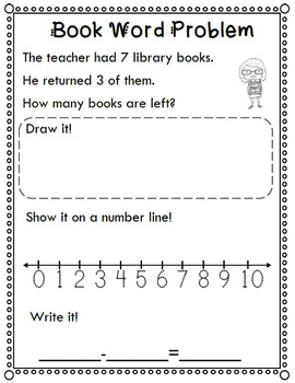 Back to School Math Subtraction Word Problems 2.0