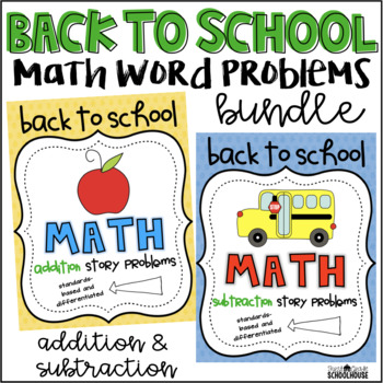 Back to School Math Word Problems Bundle