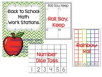 Back to School Math Work Stations