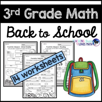 Back to School Math Worksheets 3rd Grade