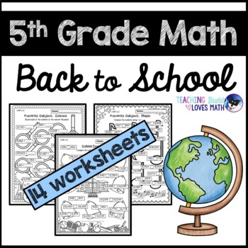 Back to School Math Worksheets 5th Grade