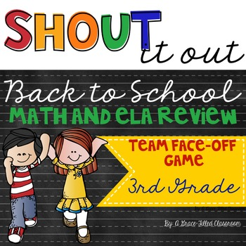 Back to School Math and ELA Face-Off Game (3rd Grade)