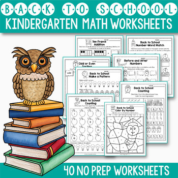 Back to School Math and Literacy BUNDLE