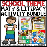 Back to School Math and Literacy Bundle for Preschool