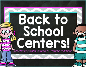 Back to School Kindergarten Centers [Math, Literacy and Colors! Oh My!]