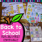 Back to School Centers - BUNDLE - Kindergarten