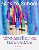 Back to School Beginning of the Year Math and Literacy Cen