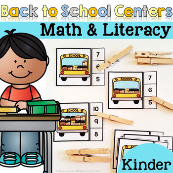 Back to School Math and Literacy Centers {Kindergarten}