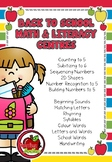 Back to School Math and Literacy Centre BUNDLE