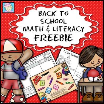 Back to School Math and Literacy FREEBIE!