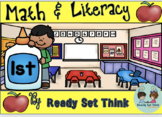 Back to School Math and Literacy First Grade (No Prep)