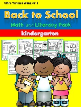 Back to School Math and Literacy No prep