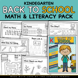 Back to School Math and Literacy Pack - NO PREP