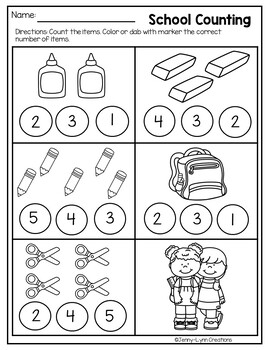Back to School Math and Literacy Packet