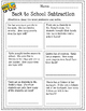 Back to School Math and Literacy Packet 3rd Grade