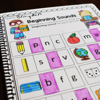 Back to School Math and Literacy Printables- No Prep!