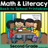 Back to School Math & Literacy Printables {2nd Grade}