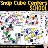 Back to School Math and Literacy Snap Cube Activities