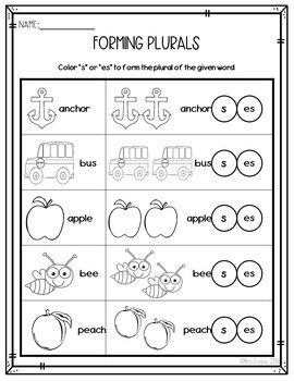 Back to School Math and Literacy WORKSHEETS -sample-