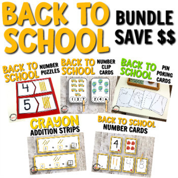 Back to School Math and Pin Poking Bundle