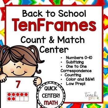Back to School Math centers Bundle!  5 Math Centers for PreK, K, & Homeschool