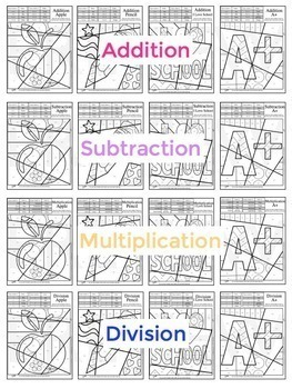 Back to School Ideas - Math Coloring Pages