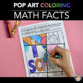 Back to School Math Activity: Math Fact Coloring Pages
