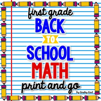 Back to School Math for 1 & 2 {Number Sense, Place Value, Adding/Subtracting}
