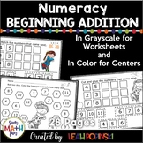 First Week of School Math Activities and Worksheets for Addition, Subtraction