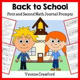 Back to School Math Journal Prompts (1st and 2nd grade)