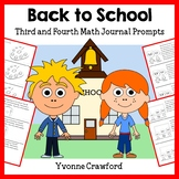 Back to School Math Journal Prompts (3rd and 4th grade)