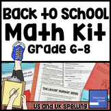Back to School Math Kit