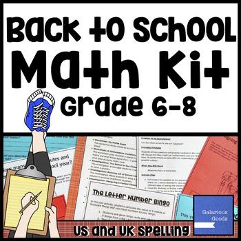 Back to School Math Kit