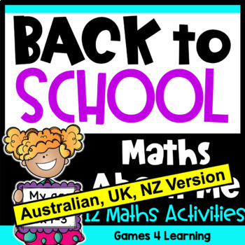 Back to School Maths About Me [Australian UK NZ Edition]