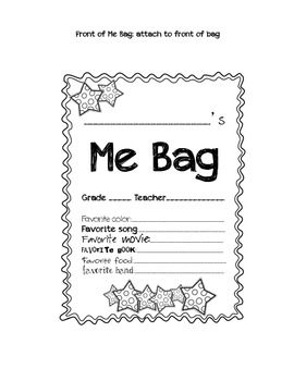 "Back to School ""Me Bag"" Mini Project"