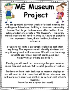 Back to School: Me Museum Project