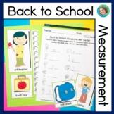Non Standard Measurement Center Back to School Theme