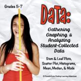 Back to School | Measurement | Graphing Data INB Activitie