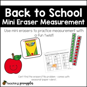 Back to School Measurement... with mini erasers!