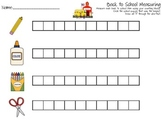 Back to School Measuring Worksheet with Unit Blocks