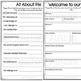 Meet the Teacher, Student Information Book