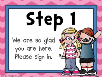 Back to School Meet and Greet or Open House Signs